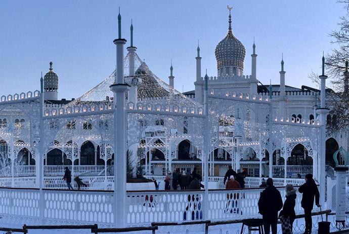 Winter at Tivoli Gardens in Copenhagen