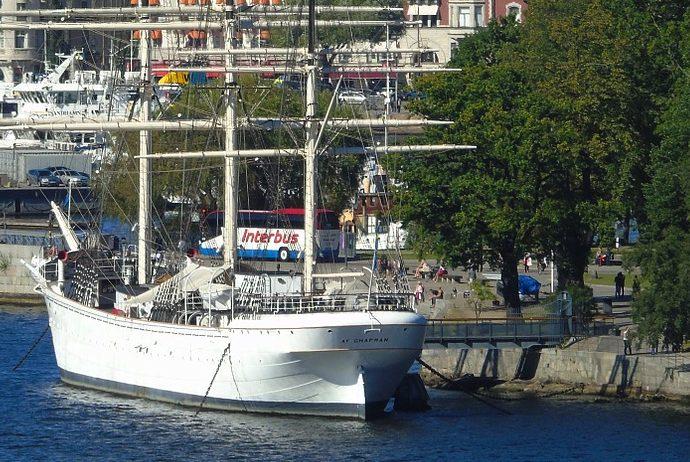 boat moored off Skeppsholmen