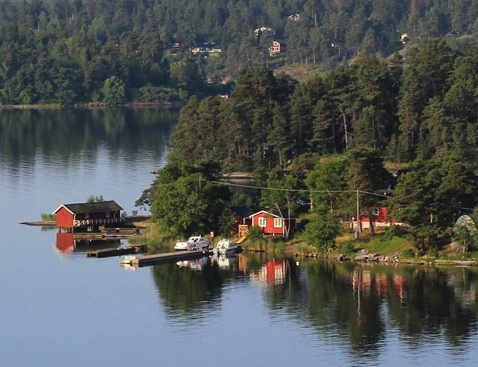 Isladn in the Stockholm archipelago