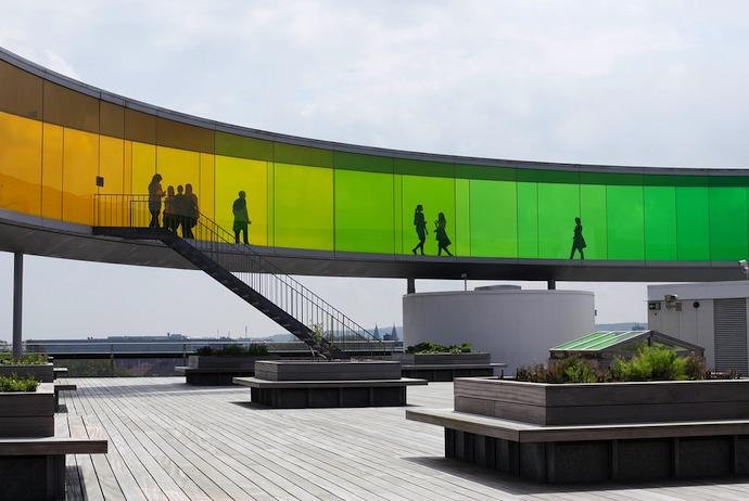 The ARoS art museum in Aarhus is an easy trip from Copenhagen