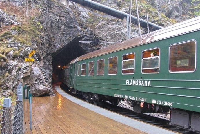 The Flåmsbana railway, Norway