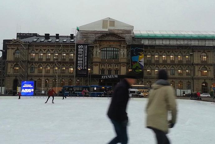 Free ice-skating, Helsinki