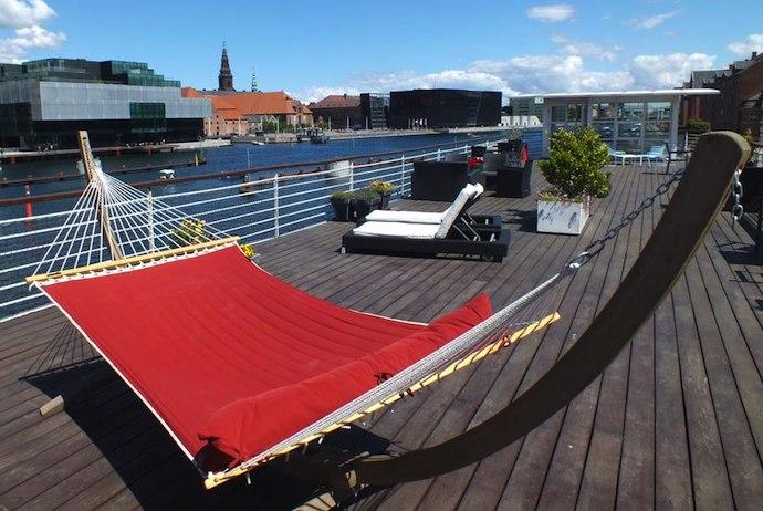 a houseboat cum hotel, CHPLiving in Copenhagen is right on the dockside in Christianshavn