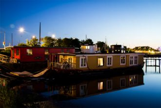 Floating hotel in Copenhagen