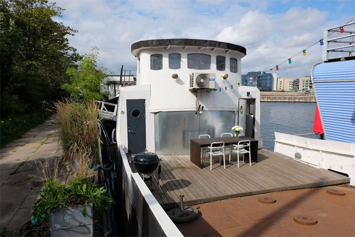 This converted trawler is a great place to stay in Copenhagen