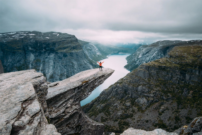 Trolltunga is one of the most famous sights in Norway