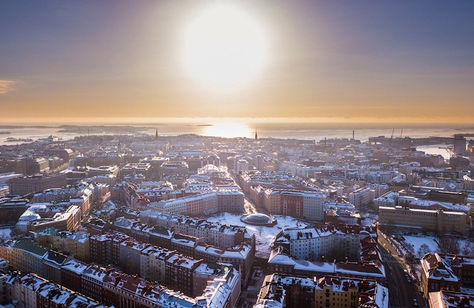 You can enjoy great views over Helsinki for free
