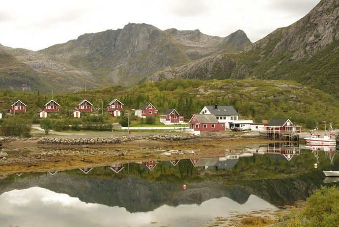 Hammerstad Campsite in the Lofoten, Norway