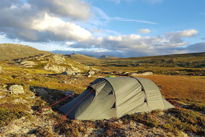 Camping wild in Norway is an unforgettable experience