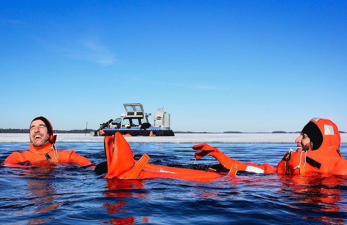 hovercraft trip, Helsinki