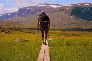 Walking the Kungsleden trail, Sweden