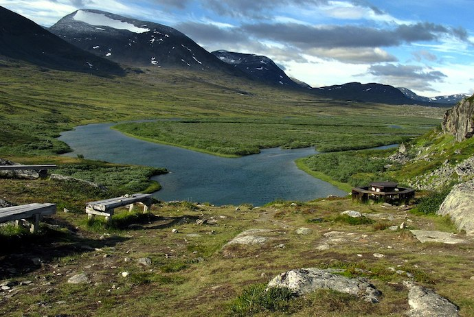 Lake along the Kungsleden, Sweden