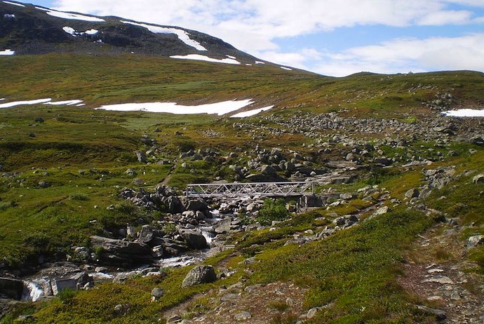 Most people hike Kungsleden from north to south
