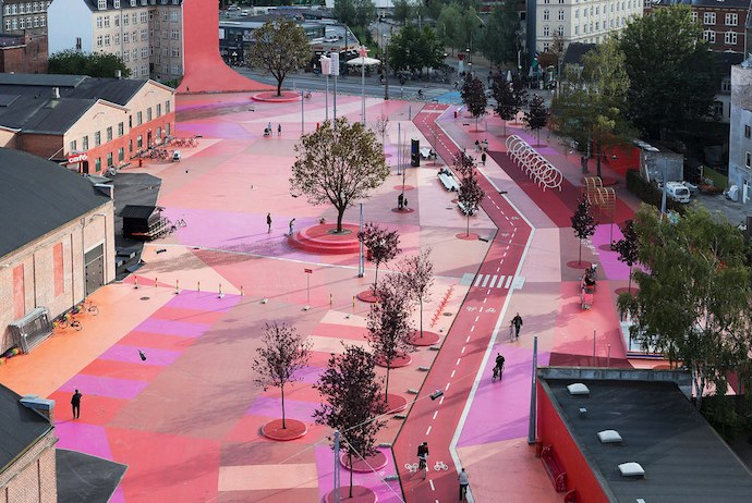 Superkilen is one of Copenhagen's most unusual parks