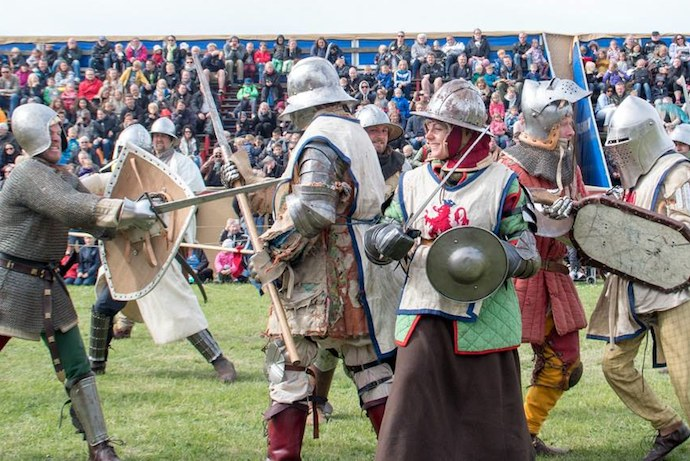 Sword fighting and duels at Odense Medieval Days festival