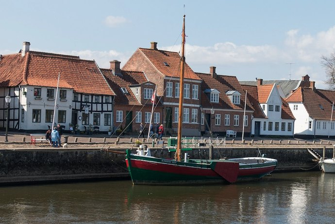 boast along the waterfront, Ribe, Denmark