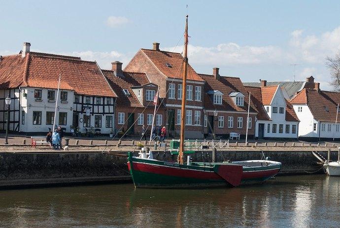 boast along the waterfront, Ribe, Denmark