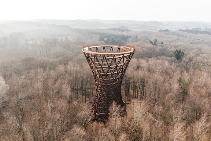 The wooden Forest Tower is one of the most unusual sights in Denmark