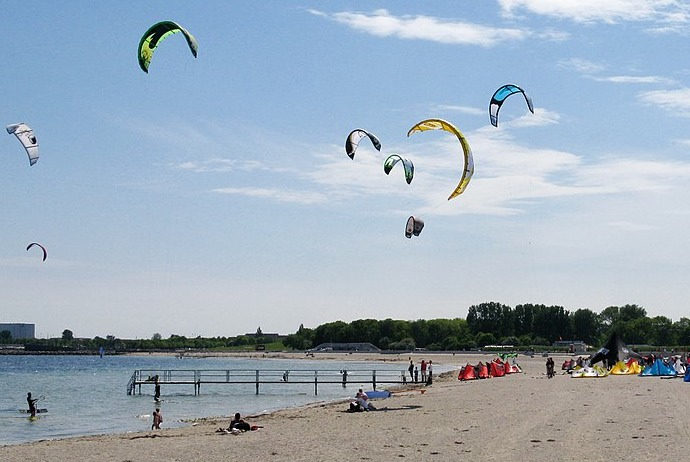 Amagar beach is a great place for swimming and beach activities near Copenhagen