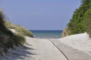 Gudmindrup Strand, a long sandy beach near Copenhagen