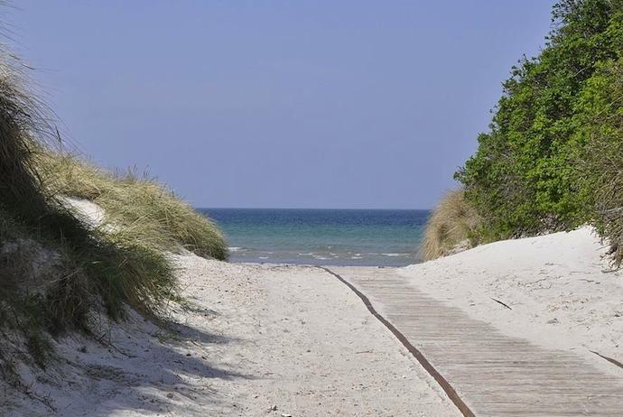Gudmindrup Strand, a long sandy beach near Copenhagen