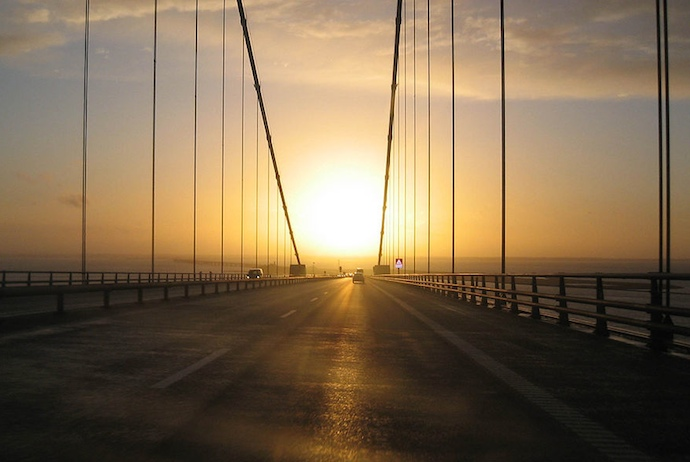 The Oresund bridge, Denmark
