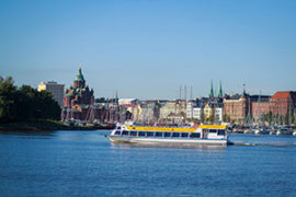 Sightseeing by boat on Helsinki's canals