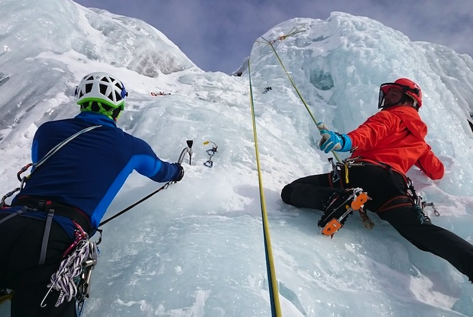 Ice climbing is one of the many extreme sports on offer in Norway!