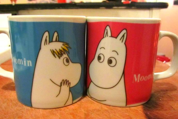 Moomin souvenirs in Helsinki, Finland