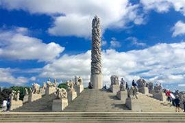 Sculpture Park Walk in Oslo