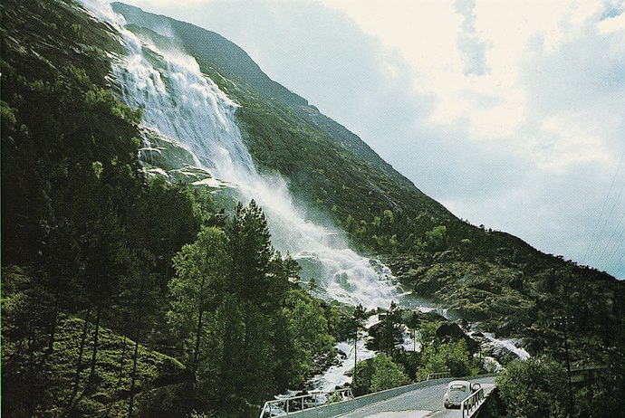 Langfoss waterfall, Norway
