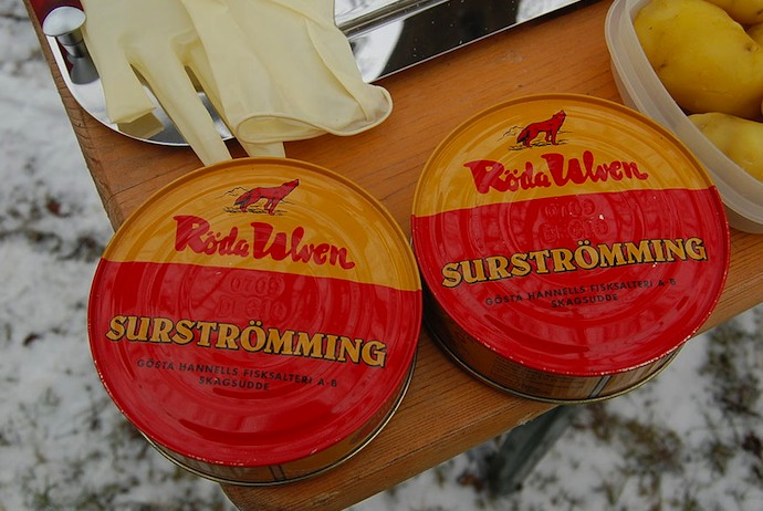 A tin of surströmming, Sweden