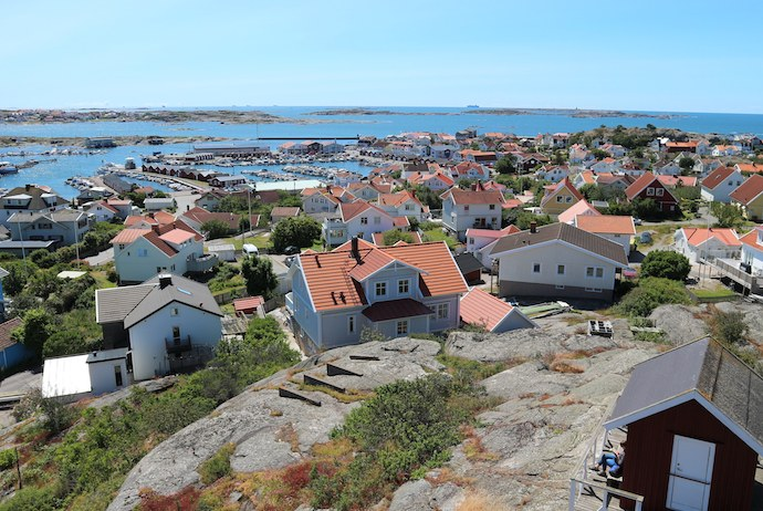 View from Hönö Vattentorn, Gothenburg archipelago