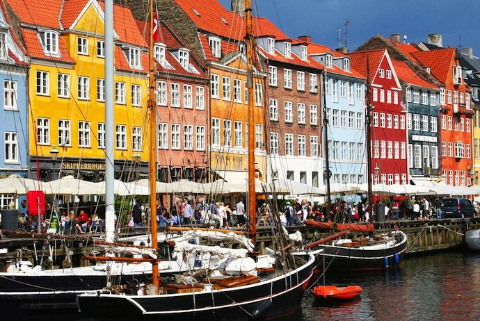 Nyhavn is a great place for a stroll during summer