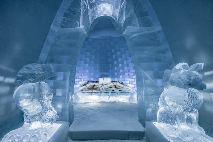 The Icehotel in Jukkasjärvi is one of Swedish Lapland's most iconic places to stay