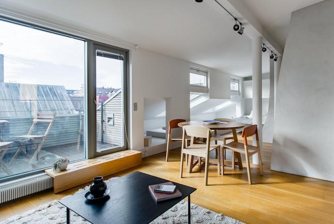 trendy apartment, roof terrace, Helsinki