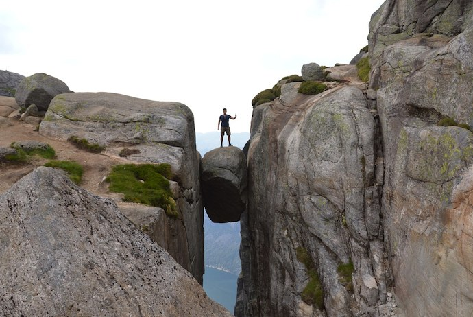 The Kjerag Boulder, Norway