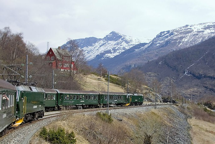The Flåmsbana mountain railway, Norway