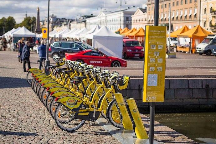 Helsinki's Yellow Bikes city bike rental