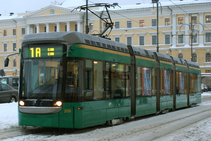 The trams in Helsinki are quick and affordable