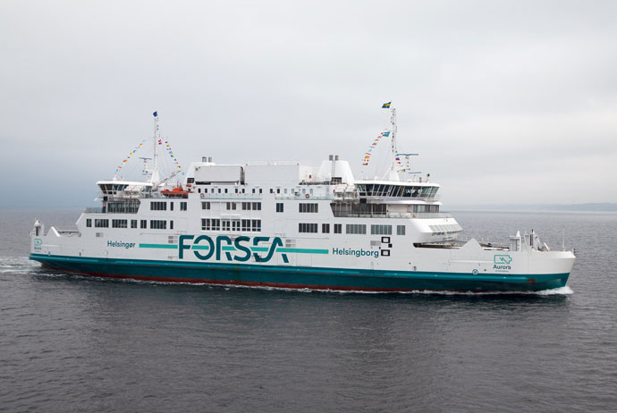 The ferry from Sweden to Denmark