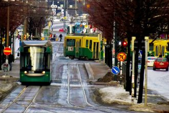 trams, Helsinki, Finland