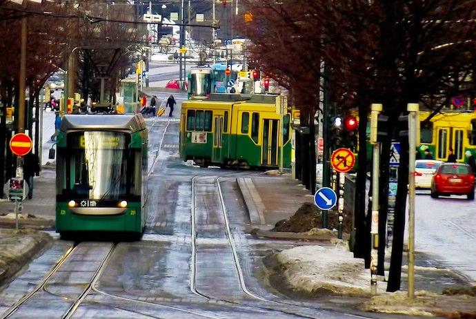 Trams in Helsinki, Finland