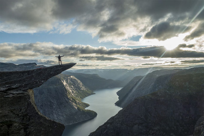 You can get to the top of Trolltunga on this extreme tour