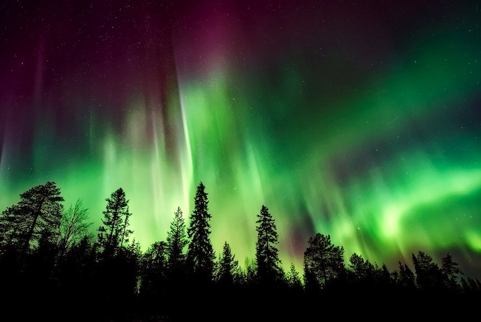 Finnish Lapland is a good place to see the northern lights