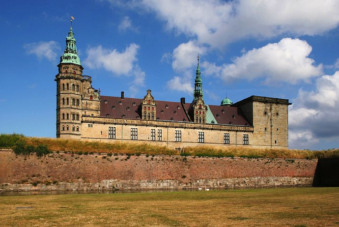 Kronborg Castle, home of Hamlet, Denmark