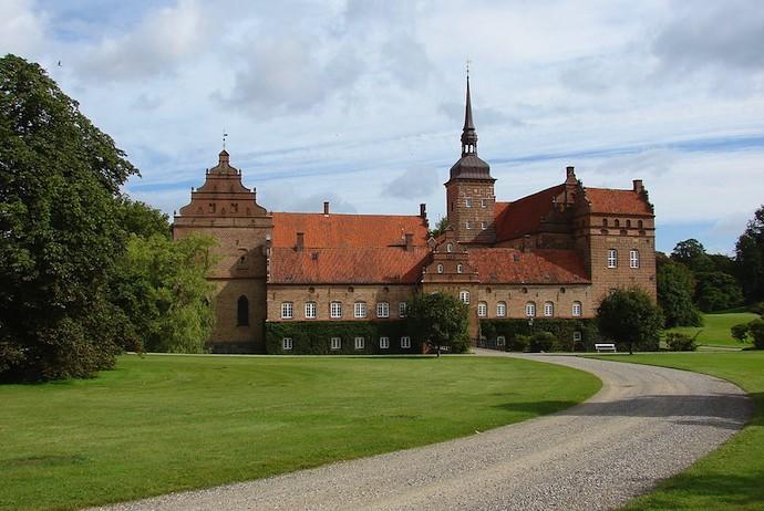 Holckenhavn Castle, on Funen, Denmark