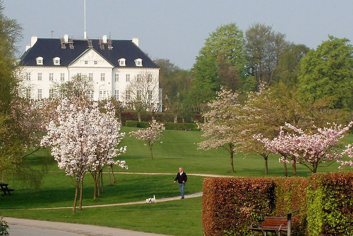 Marselisborg castle, the Queen's summer residence, Denmark