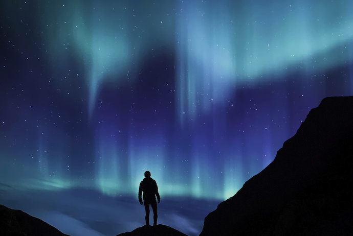 Viewing the northern lights in Sweden, Scandinavia