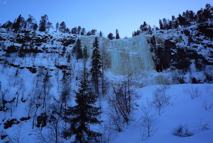 Frozen waterfalls of Korouoma, Finland